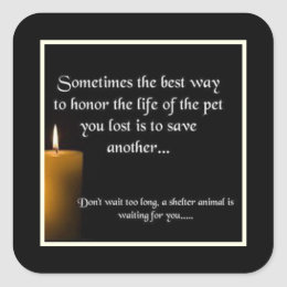 Honor A Life Animal Rescue Stickers