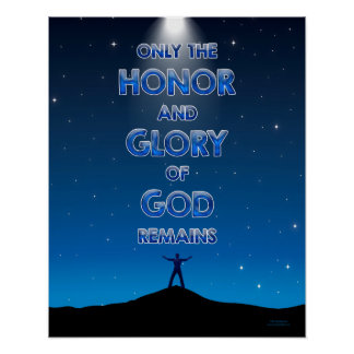 Honor and Glory - 20x16 Poster