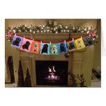 Honor Christmas Fireplace Card