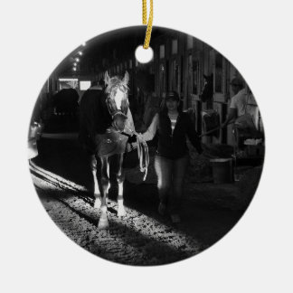 Honor Code at Belmont Park Ceramic Ornament
