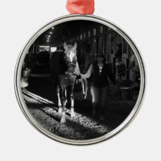Honor Code at Belmont Park Metal Ornament