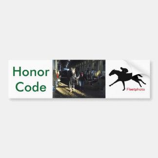 Honor Code Bumper Sticker