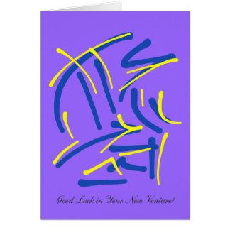 Honor con el sacrificio - buena suerte en nueva tarjeta de felicitación