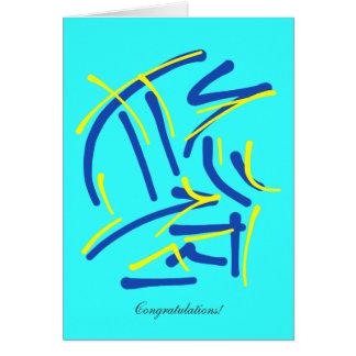 Honor con el sacrificio - enhorabuena general tarjeta de felicitación