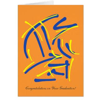 Honor con enhorabuena del sacrificio en la tarjeta de felicitación