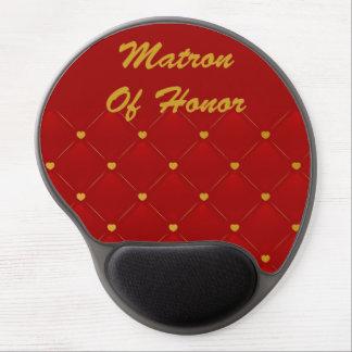 Honor de la matrona (rojo/oro) alfombrillas de ratón con gel