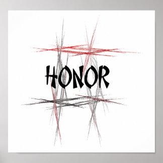 Honor de los artes marciales impresiones