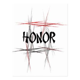 Honor de los artes marciales postal