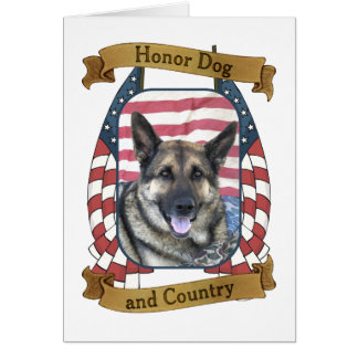 Honor Dog and Country Card
