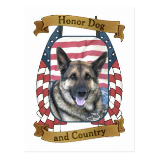 Honor Dog and Country Postcard