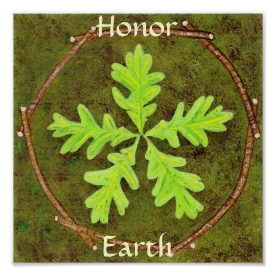 Honor Earth Poster