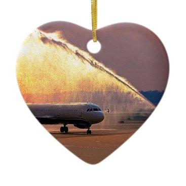 Honor Flight Heart Shape Ornament