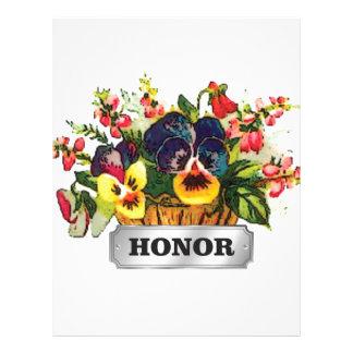 honor flowers letterhead