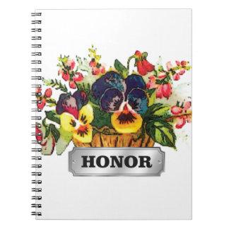 honor flowers spiral notebook