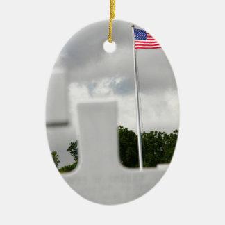Honor For a Fallen Soldier Ceramic Ornament