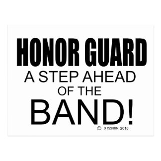 Honor Guard A Step Ahead of the Band! Postcard