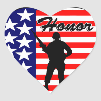 Honor! Heart Sticker