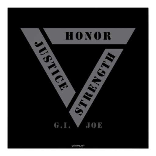 Honor Justice Strength Poster