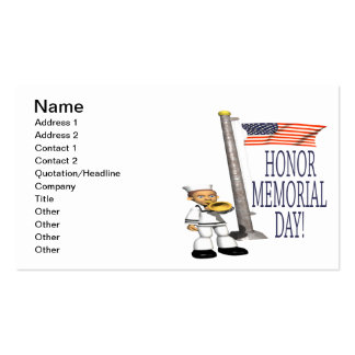 Honor Memorial Day Double-Sided Standard Business Cards (Pack Of 100)