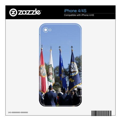 Honor militar calcomanías para iPhone 4S
