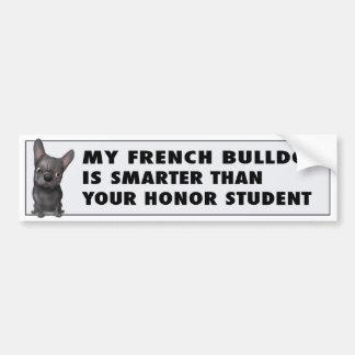 Honor (negro) del dogo francés etiqueta de parachoque