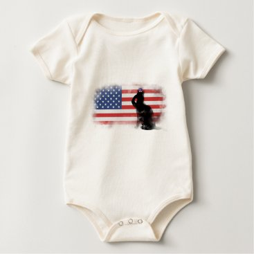 USA Themed Honor Our Heroes On Memorial Day Baby Bodysuit