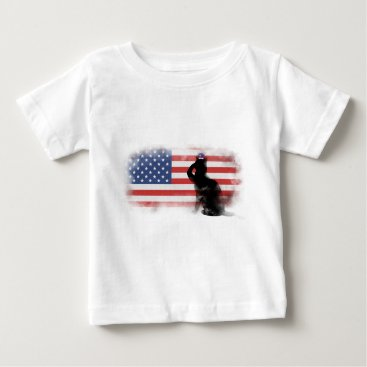 USA Themed Honor Our Heroes On Memorial Day Baby T-Shirt