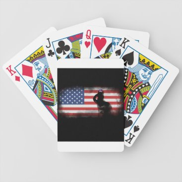USA Themed Honor Our Heroes On Memorial Day Bicycle Playing Cards