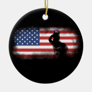 Honor Our Heroes On Memorial Day Ceramic Ornament