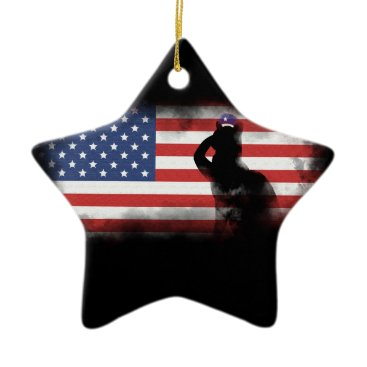USA Themed Honor Our Heroes On Memorial Day Ceramic Ornament