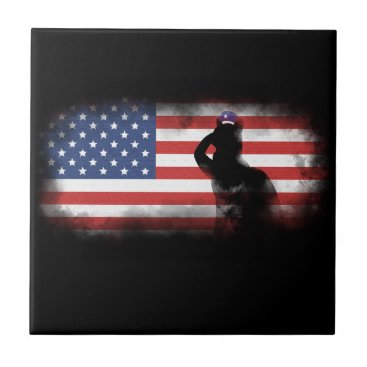 USA Themed Honor Our Heroes On Memorial Day Ceramic Tile