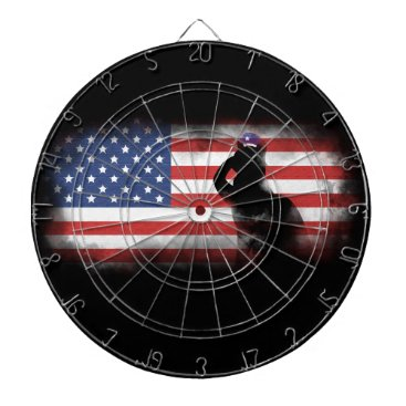 USA Themed Honor Our Heroes On Memorial Day Dart Board