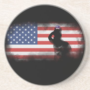 USA Themed Honor Our Heroes On Memorial Day Drink Coaster