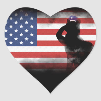 Honor Our Heroes On Memorial Day Heart Sticker