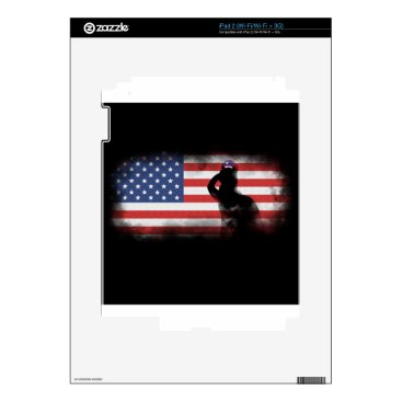 USA Themed Honor Our Heroes On Memorial Day iPad 2 Skin