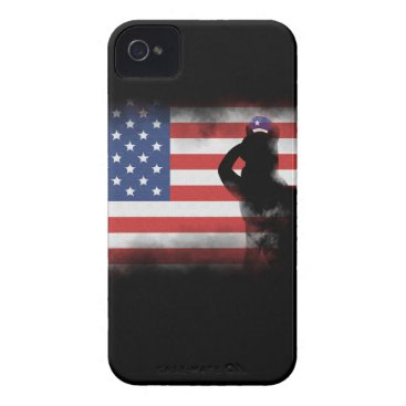 USA Themed Honor Our Heroes On Memorial Day iPhone 4 Case