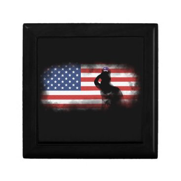 USA Themed Honor Our Heroes On Memorial Day Jewelry Box