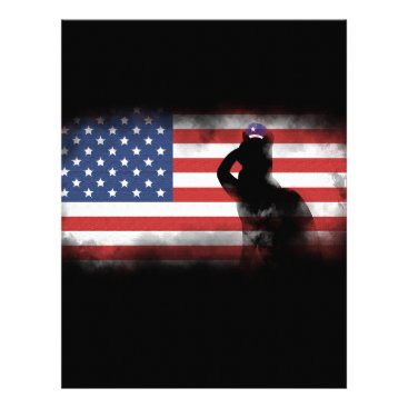 USA Themed Honor Our Heroes On Memorial Day Letterhead