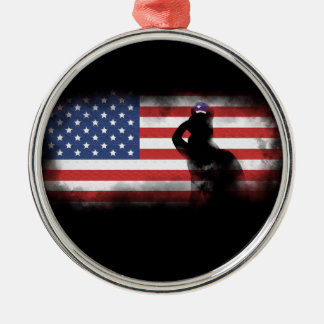 Honor Our Heroes On Memorial Day Metal Ornament