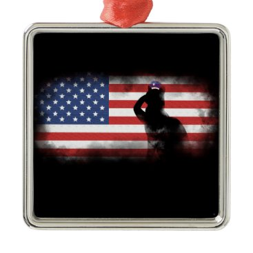 USA Themed Honor Our Heroes On Memorial Day Metal Ornament