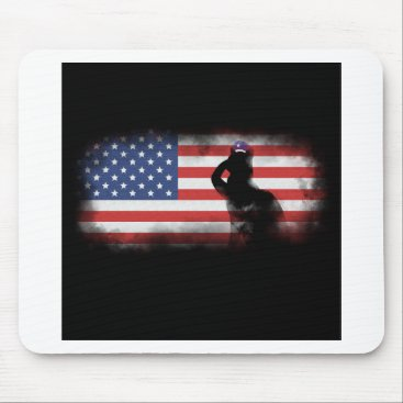 USA Themed Honor Our Heroes On Memorial Day Mouse Pad
