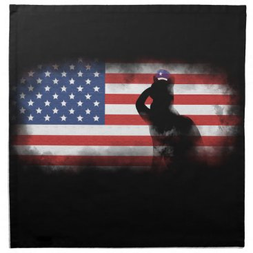 USA Themed Honor Our Heroes On Memorial Day Napkin