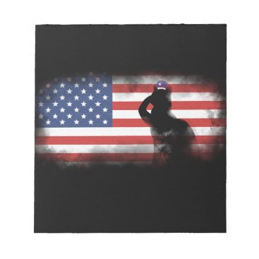 USA Themed Honor Our Heroes On Memorial Day Notepad