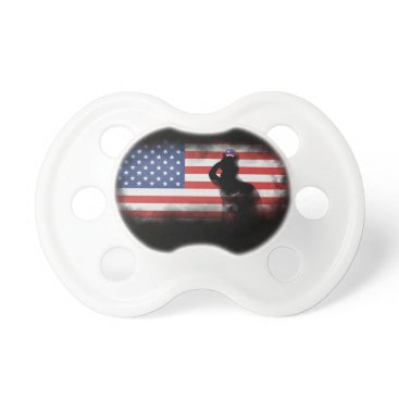 USA Themed Honor Our Heroes On Memorial Day Pacifier