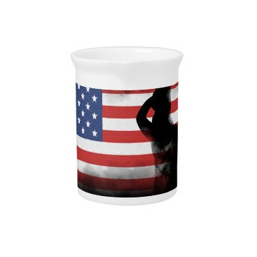 USA Themed Honor Our Heroes On Memorial Day Pitcher