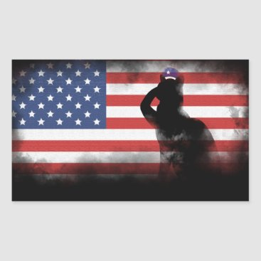 USA Themed Honor Our Heroes On Memorial Day Rectangular Sticker
