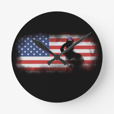 USA Themed Honor Our Heroes On Memorial Day Round Clock