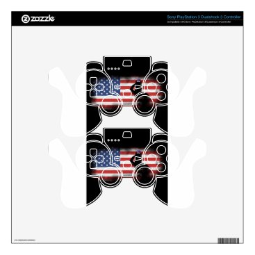USA Themed Honor Our Heroes On Memorial Day Skin For PS3 Controller