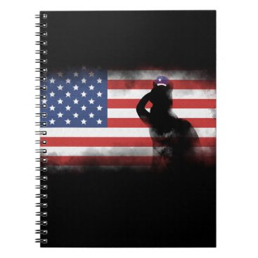 USA Themed Honor Our Heroes On Memorial Day Spiral Notebook