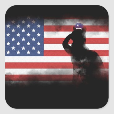 USA Themed Honor Our Heroes On Memorial Day Square Sticker